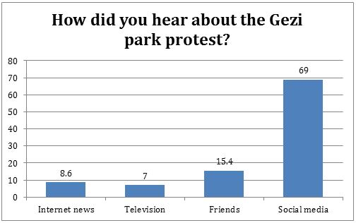 Results of a Konda survey of Gezi park protesters