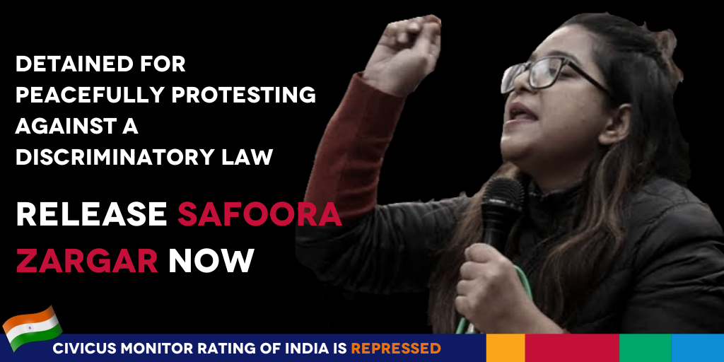 Safoora asked for equal rights for all