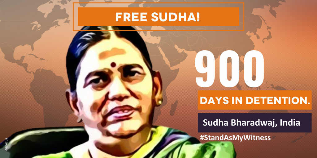 Sudha 900 days in detention