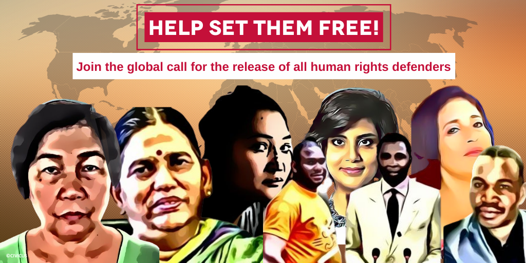 Twitter Facebook Free HRDs campaign 2