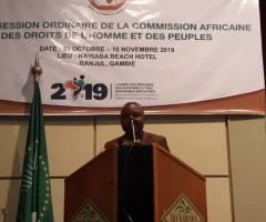 A la 65ème session ordinaire de la commission africaine des droits de l'homme et des peuples, PJUD-BENIN ONG dénonce la politique ultra-sécuritaire des pays et propose !