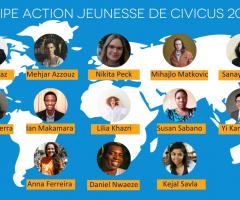 La constitution d'une équipe mondiale diversifiée de militants pour la transformation sociale : Accueillons l'équipe d'action jeunesse CIVICUS 2021-22