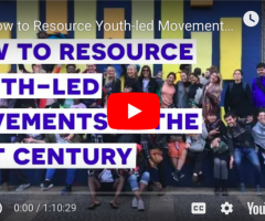 "Webinar: ""How to Resource Youth-Led Movements in the 21st Century"""