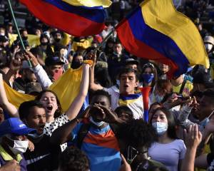 COLOMBIA: 'Those who demonstrate put their integrity and their lives at risk'