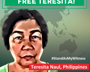 Rights organisations call for release of activist Teresita Naul on her first anniversary in detention