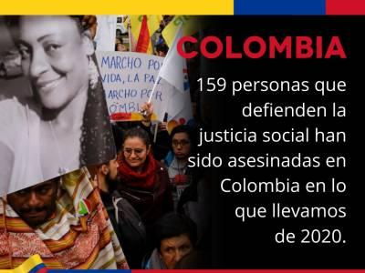 Carta colectiva sobre Colombia: La COVID-19 no puede servir de tapadera para atacar a líderes sociales