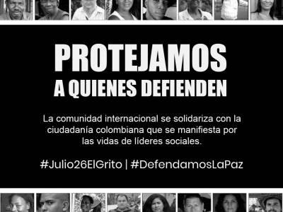 También gritamos por la paz: Organizaciones internacionales de la sociedad civil en solidaridad con las Marchas por la Paz de Colombia