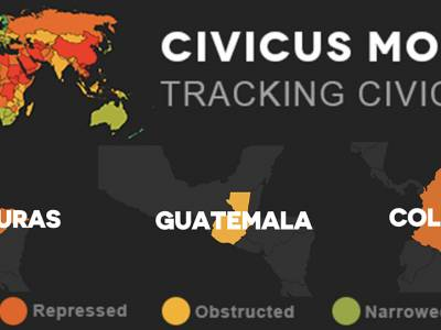 The deterioration of civic space in Colombia, Guatemala and Honduras